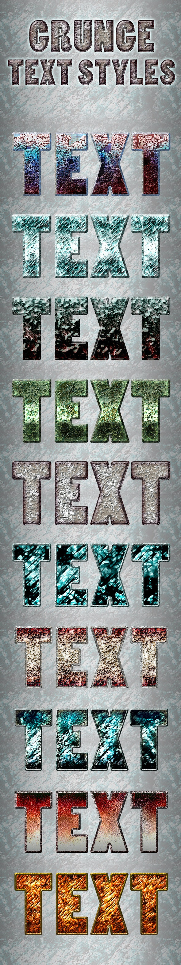Grunge Text Styles - Text Effects Styles