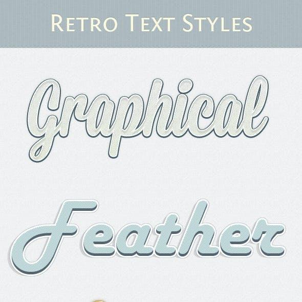 Retro Text Styles Vol. 3
