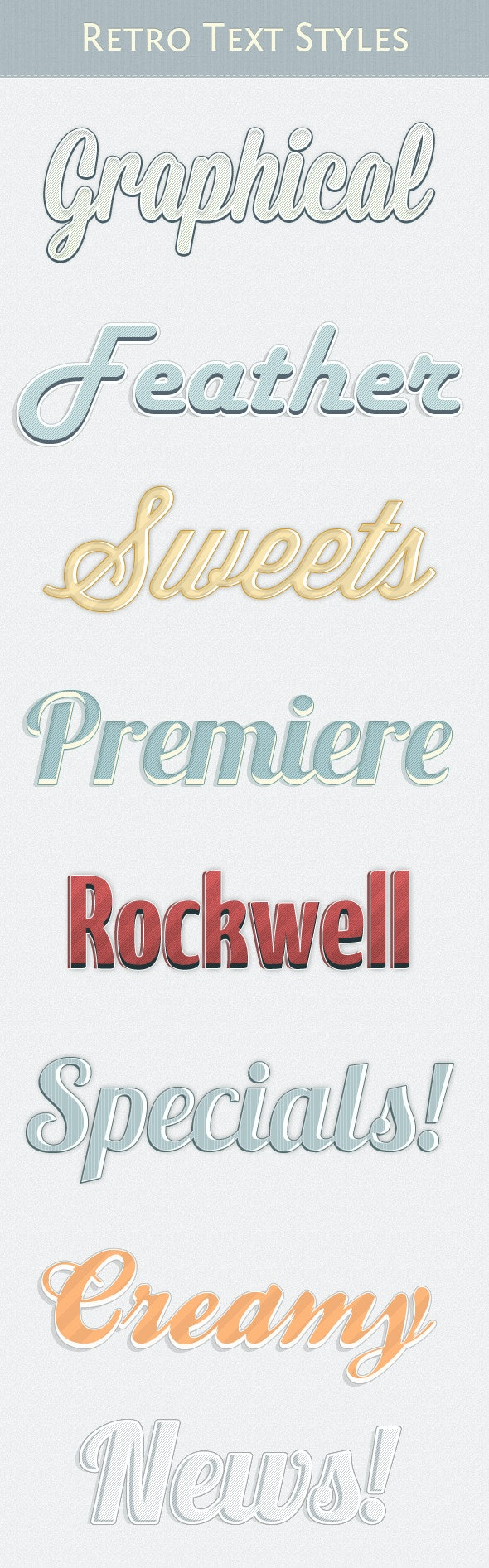 Retro Text Styles Vol. 3 - Text Effects Styles