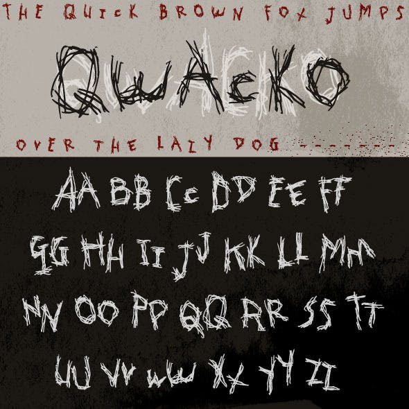 Qwacko Font; Hand-drawn Graffiti Type