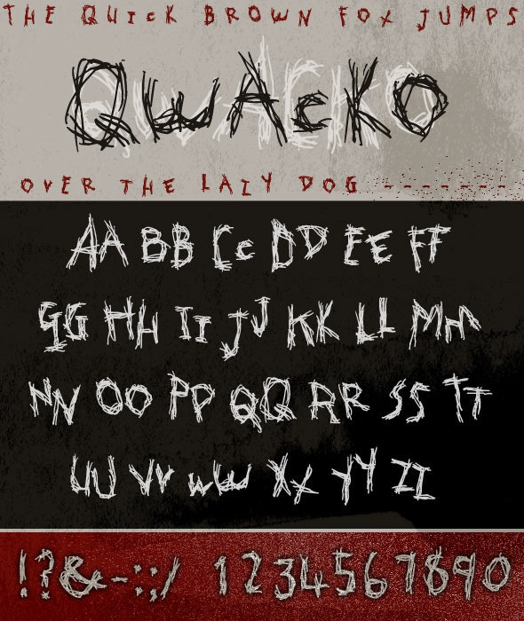 Qwacko Font; Hand-drawn Graffiti Type