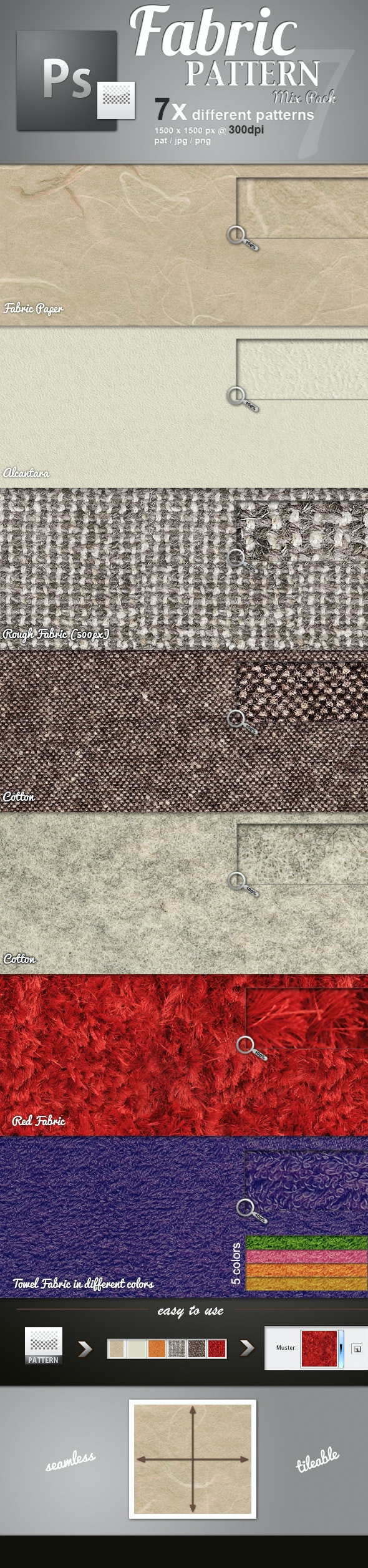 Fabric Pattern Mix - Miscellaneous Textures / Fills / Patterns
