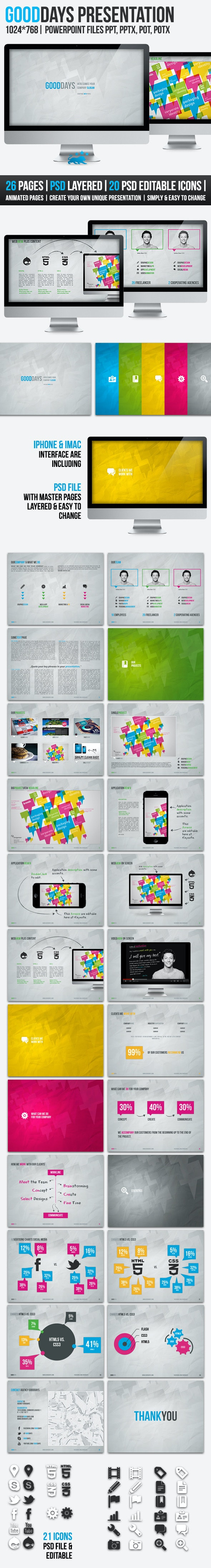 Good Days 26 Pages PowerPoint Presentation - PowerPoint Templates Presentation Templates