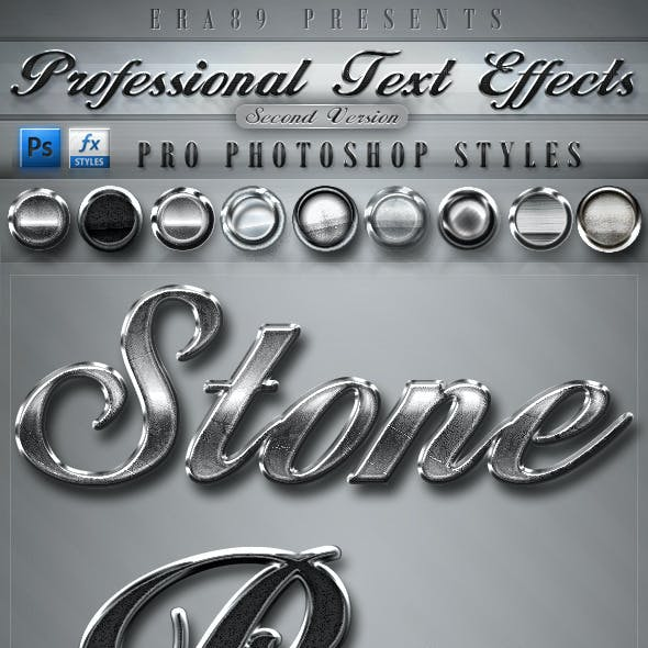 Pro Text Effects V2 - PS Styles