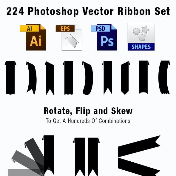 224 Vector Ribbon Set