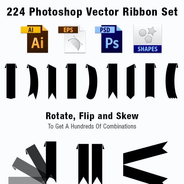 224 Vector Ribbon Set