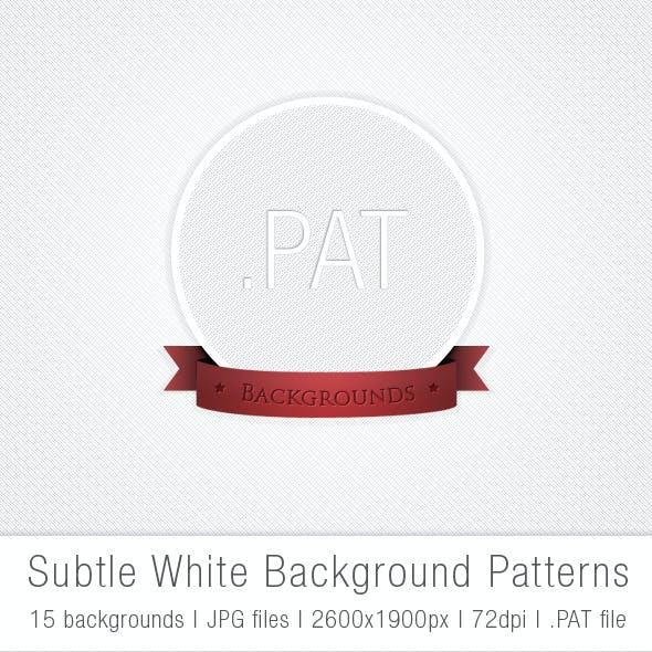 Subtle White Background Patterns