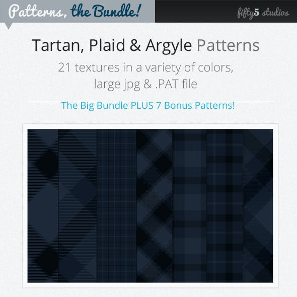 The Bundle : 28 Tartan, Plaid & Arglye Patterns