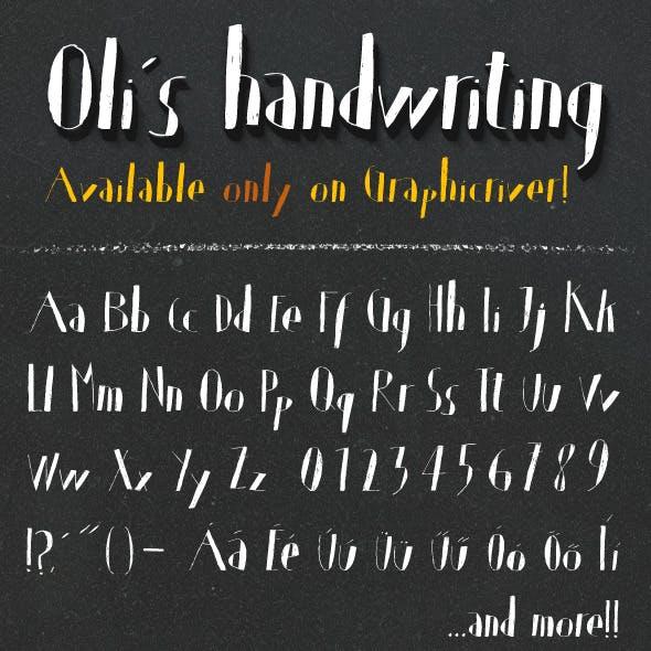 Oli's Handwriting TrueType font