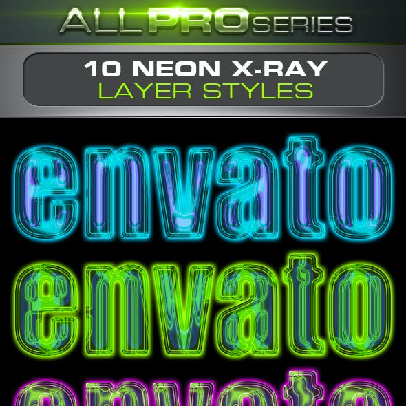 Neon X-Ray Layer Styles