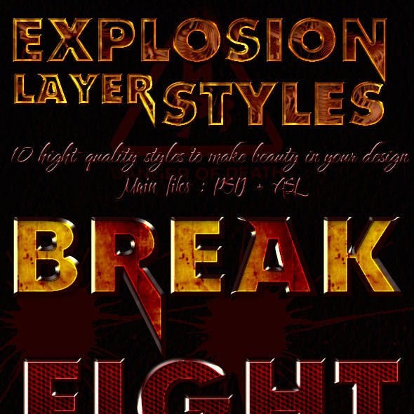 Explosion Layer Styles