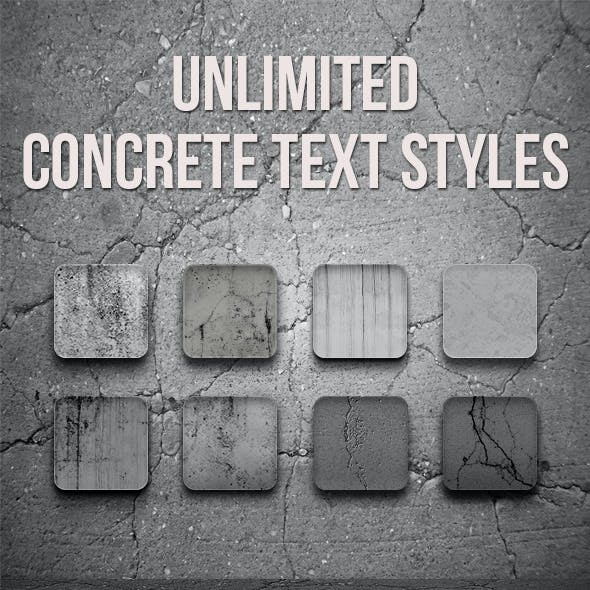 Concrete Text Styles - Unlimited