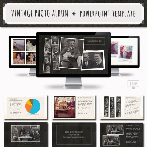 Vintage Photo Album Powerpoint Template
