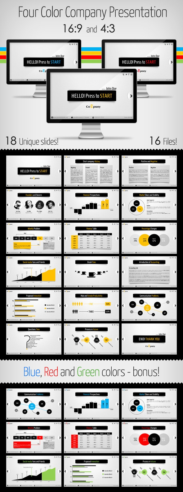 Clean and Modern Company Presentation - Business PowerPoint Templates