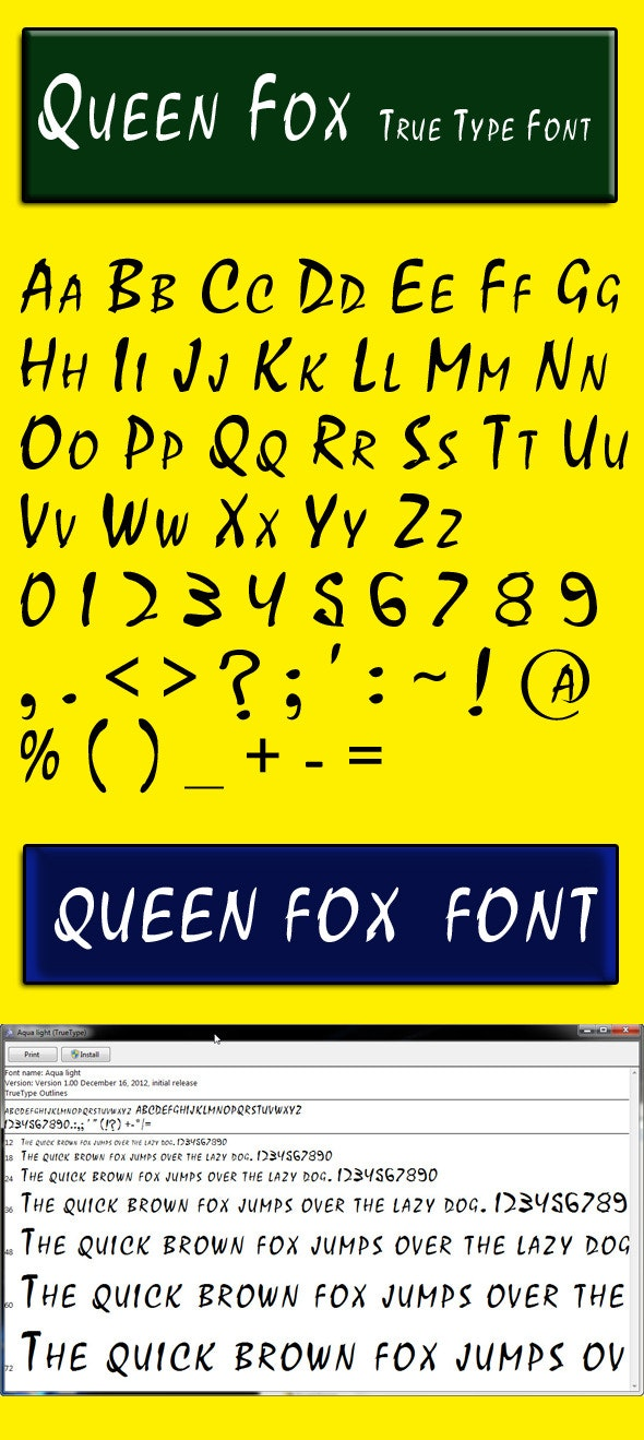 Queen Fox - Calligraphy Script
