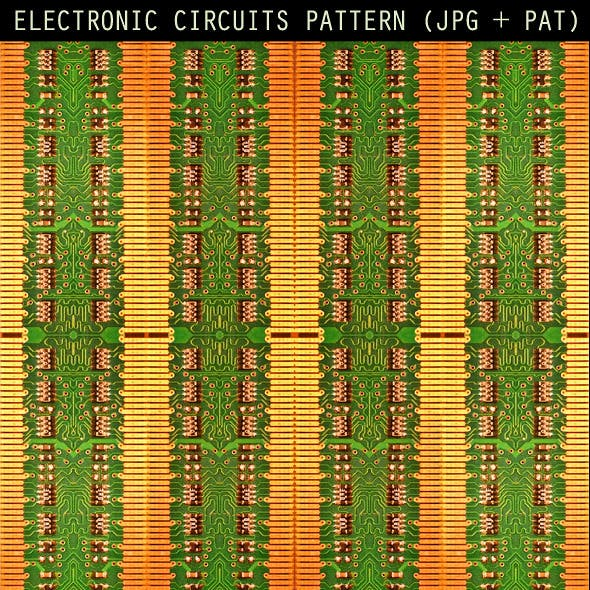 Electronic Circuit Patterns & Backgrounds