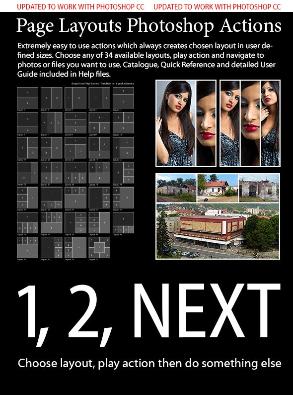 Page Layouts Photoshop Actions - Photoshop Add-ons