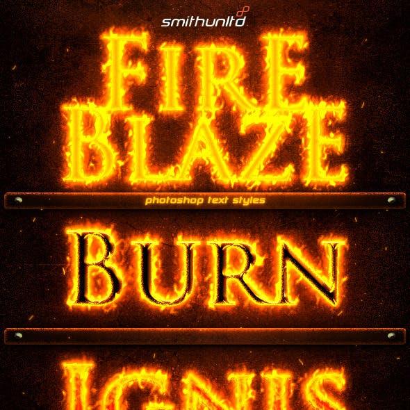Fire Blaze Text Styles