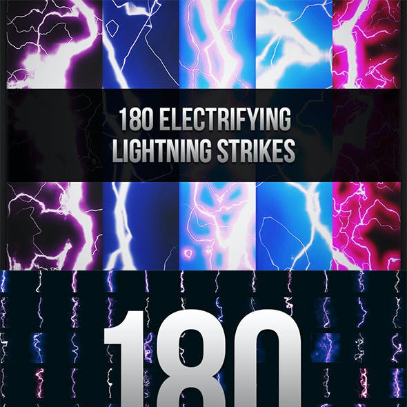 180 Seamless Lightning Strikes