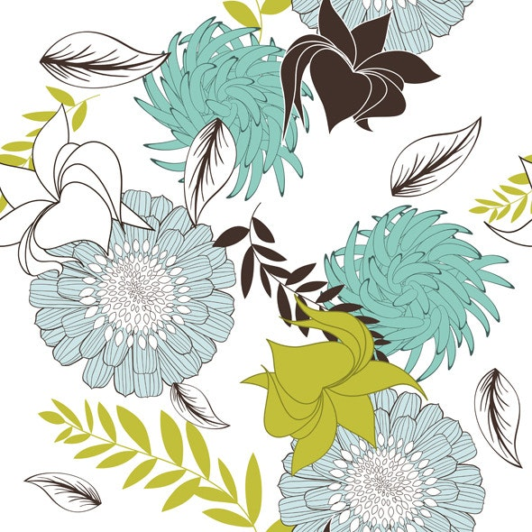 Seamless Floral Pattern - Artistic Textures / Fills / Patterns