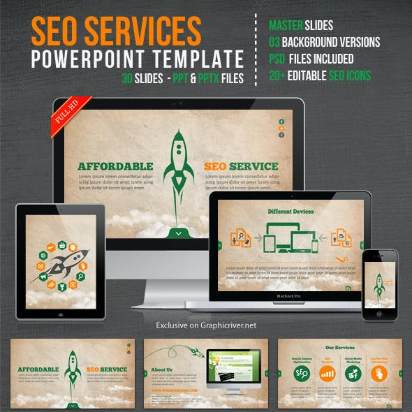 SEO Services Powerpoint Template