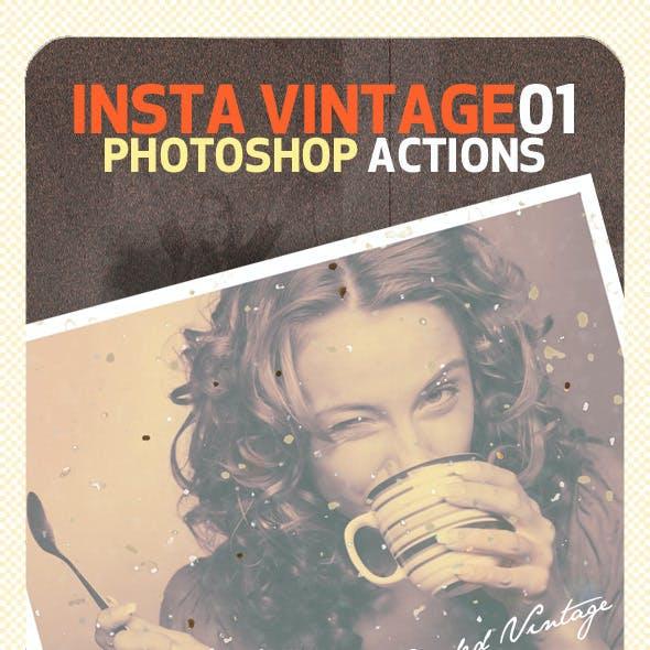INSTA Vintage Photoshop Actions (ATN)