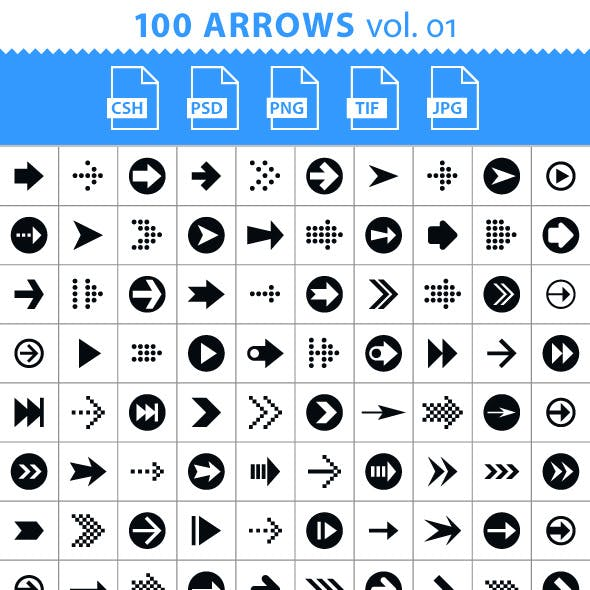 100 Arrows Set. Volume 01