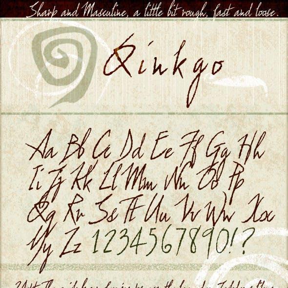Qinkgo - Sharp & Masculine Handwritten Script