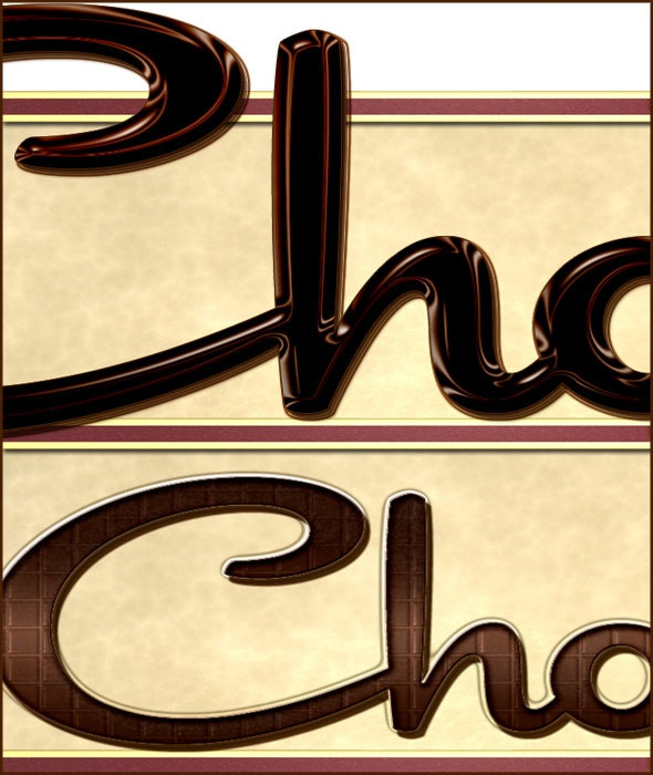 Chocolate Layer Style  - Text Effects Styles