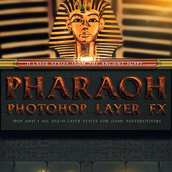 Pharaoh Photoshop Layer FX