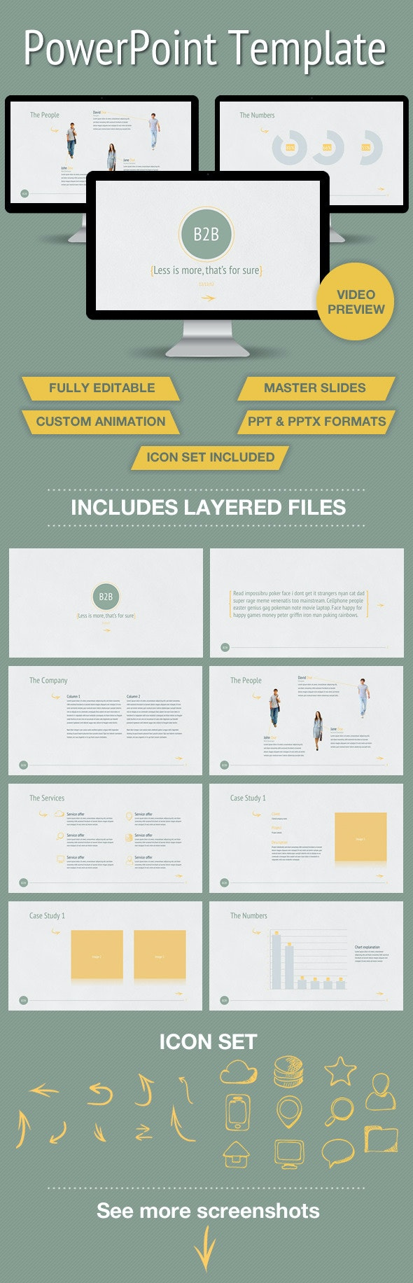 Business to Business Powerpoint Presentation - PowerPoint Templates Presentation Templates