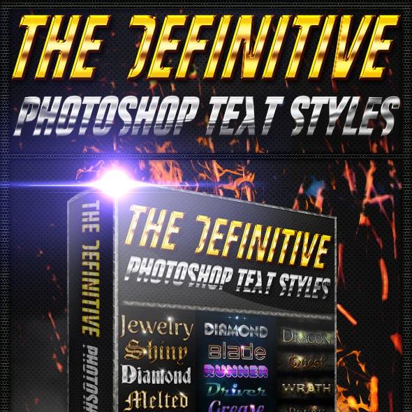 [BUNDLE] The Definitive Photoshop Text Styles