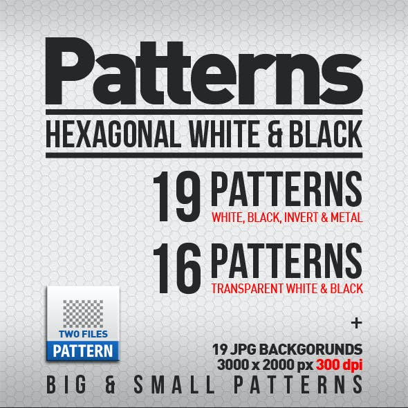 19 HEXagonal Patterns Big & Small