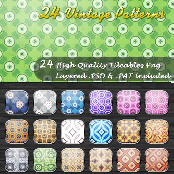 24 Tileable Vintage Patterns