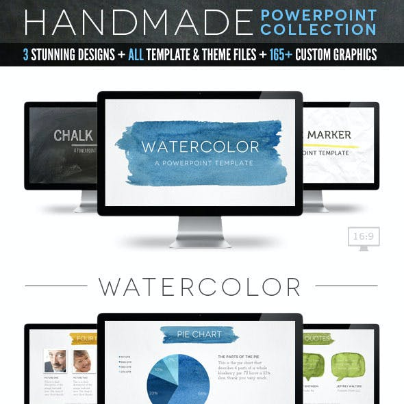 Handmade Collection Powerpoint Template Bundle