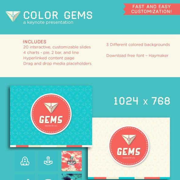 Color Gems Keynote Presentation