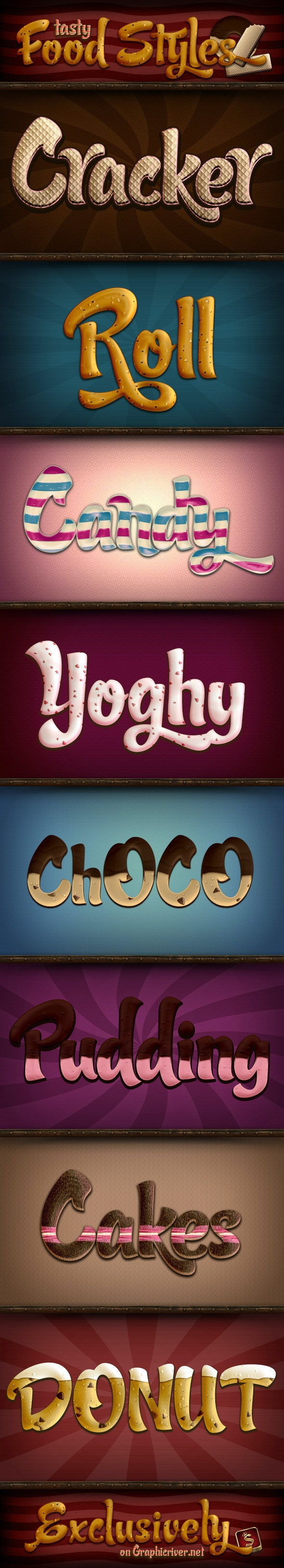 Tasty Food Styles - Text Effects Styles