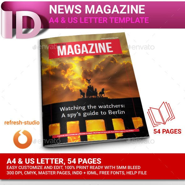 News Magazine A4/US 54 Pages