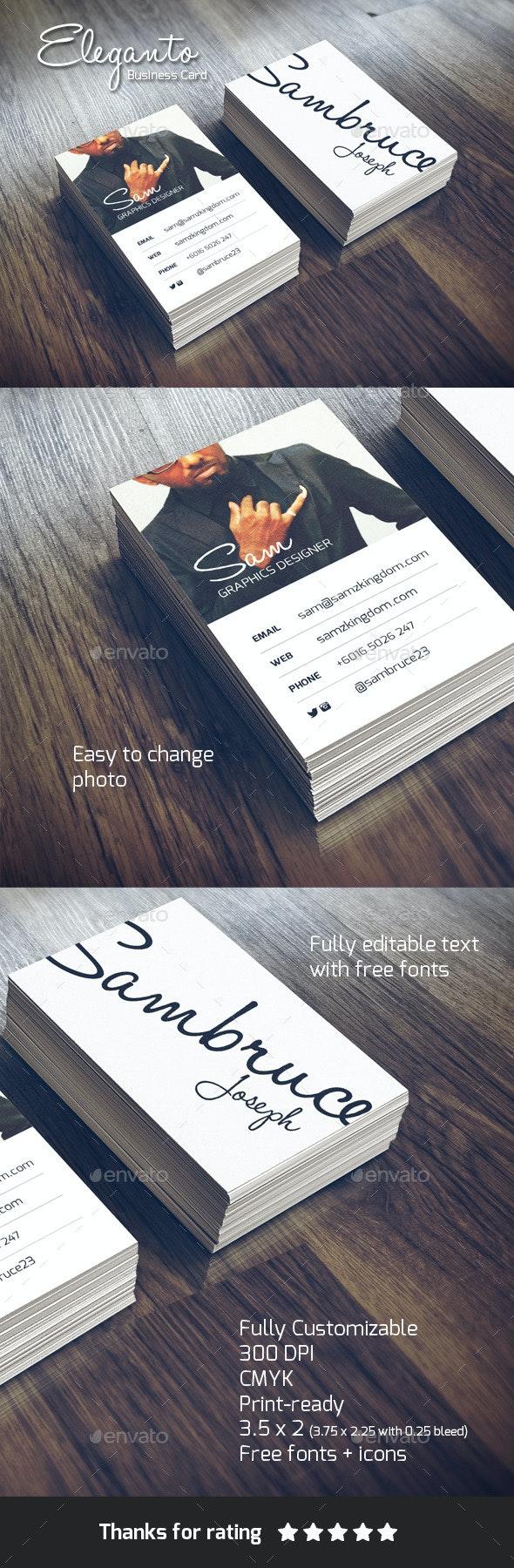 Eleganto Business Card - Business Cards Print Templates