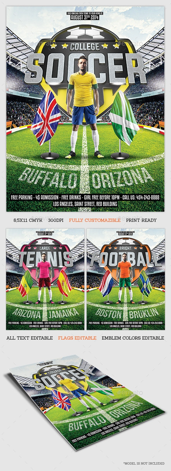 Sport Game Flyer Template - Sports Events
