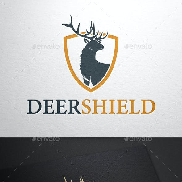 Deer Shield Logo Template