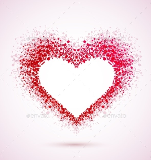 Musical Heart - Valentines Seasons/Holidays