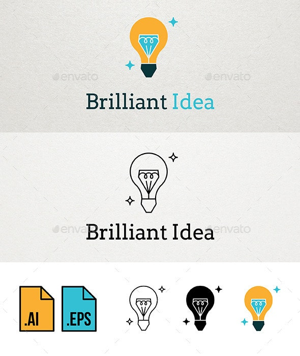 Brilliant Idea Logo Template