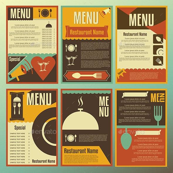 Restaurant Menu Designs - Decorative Symbols Decorative