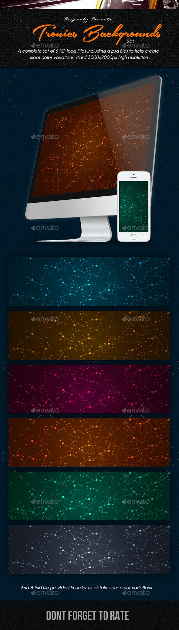 Tronics Background Pack - Abstract Backgrounds