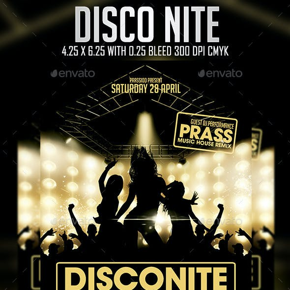 Disco Nite Flyer Template