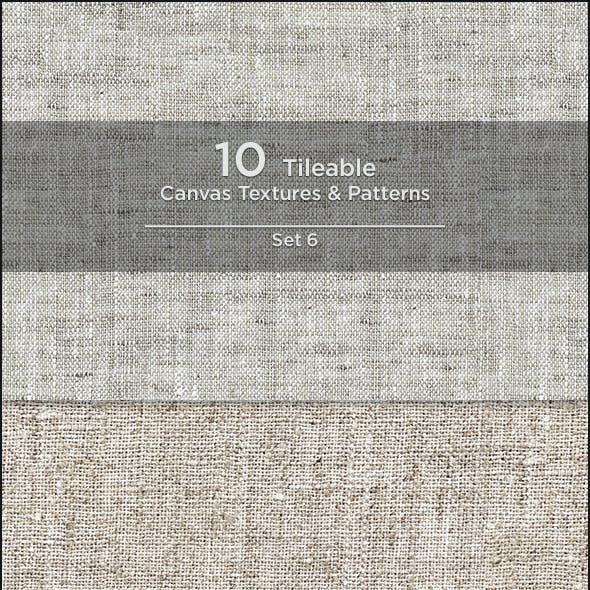 10 Tileable Canvas Textures/Patterns