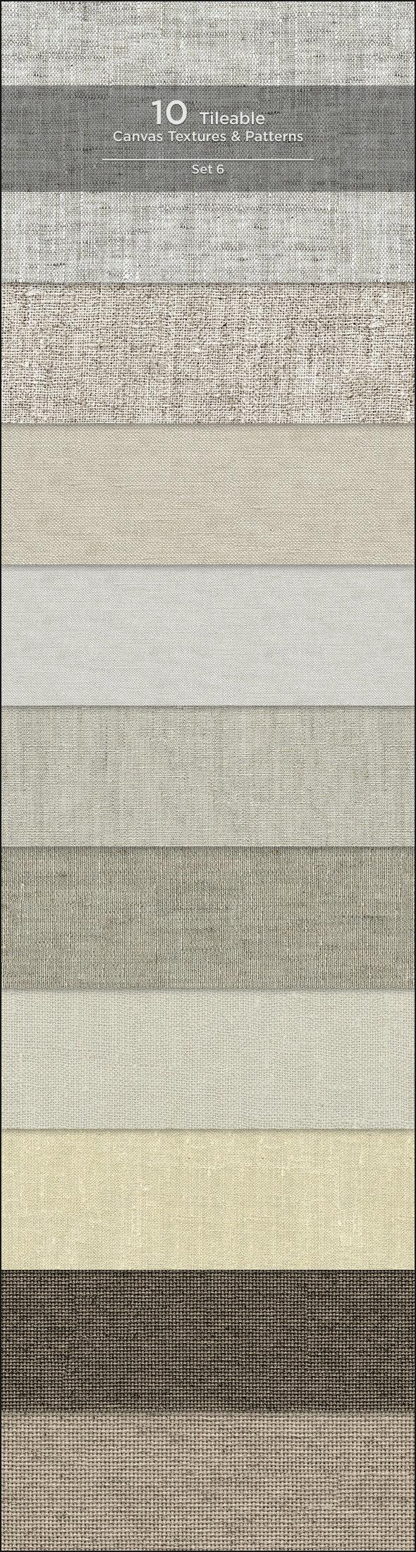 10 Tileable Canvas Textures/Patterns - Miscellaneous Textures / Fills / Patterns