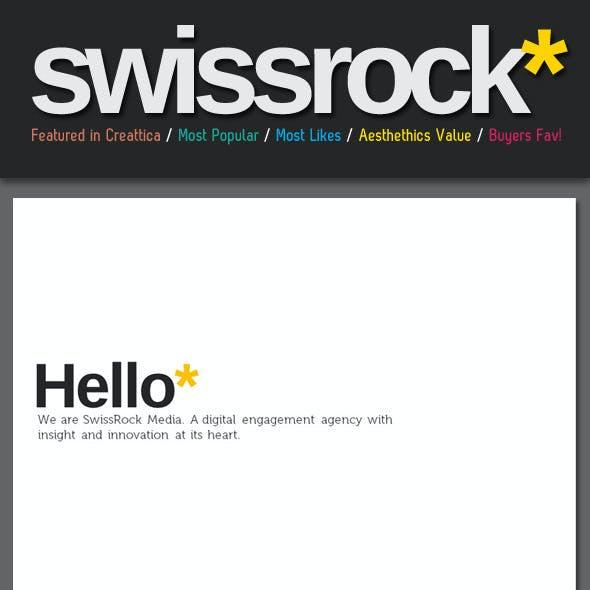 Swiss Style Rock PowerPoint Template