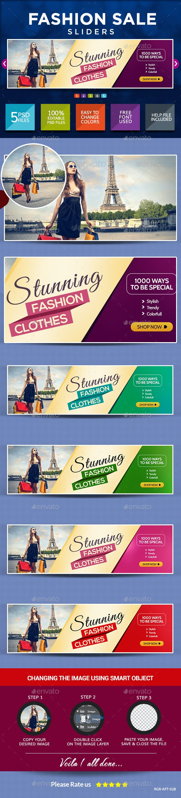 Fashion Sale Sliders - Sliders & Features Web Elements